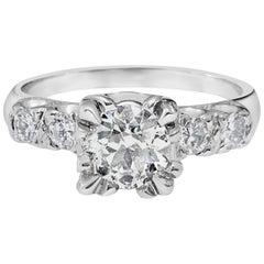 GIA Certified 1.35 Carat Diamond Engagement Ring