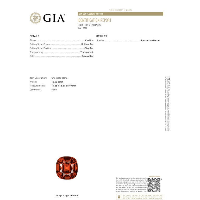 Women's GIA Certified 13.63 Carat Bohemian Garnet Micro Pave Platinum Statement Ring For Sale