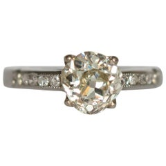 GIA Certified 1.37 Carat Diamond Engagement Ring