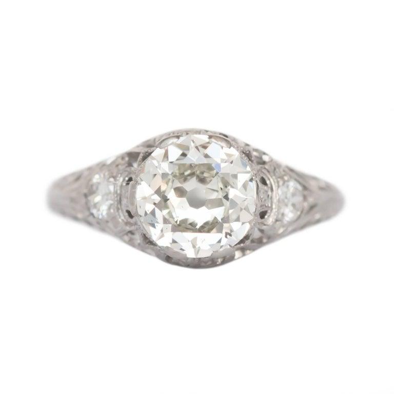 GIA Certified 1.41 Carat Diamond Platinum Engagement Ring