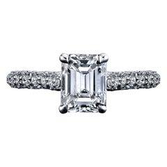 GIA Certified 1.42 Carat Emerald Cut Diamond Ring