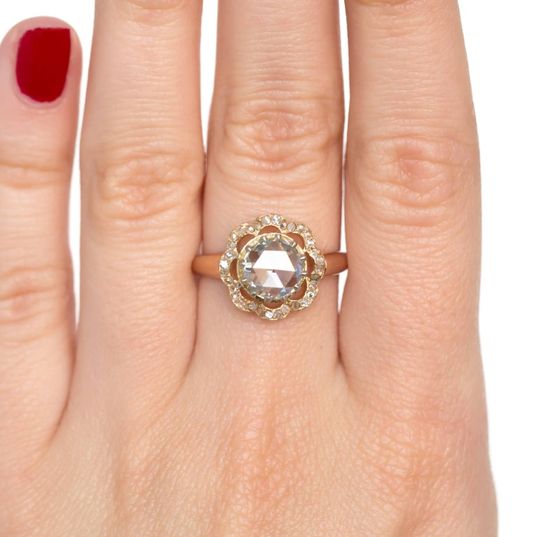 GIA Certified 1.46 Carat Diamond Rose Gold Engagement Ring For Sale 1