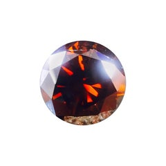 IMPORTANT GIA Certified 1.46 Carat Fancy Round Reddish Brown Loose Diamond