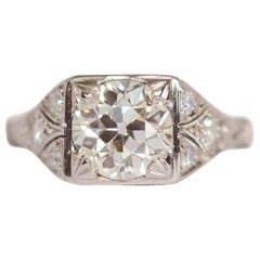 GIA Certified 1.50 Carat Diamond Platinum Engagement Ring