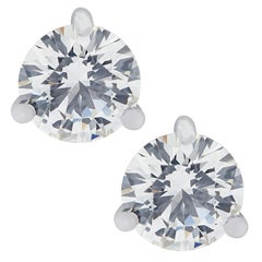Vivid Diamonds GIA Certified 1.50 Carat Diamond Stud Earrings