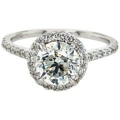 GIA Certified 1.50 Carat H Si2 Brilliant Cut Diamond Engagement Ring