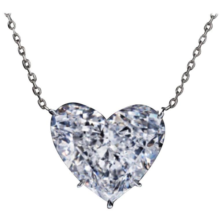 GIA Certified 2.20 Carat Heart-Shape Diamond E Color VS2 Clarity