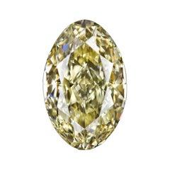 GIA Certified 1.50 Carat Moval Yellow Diamond