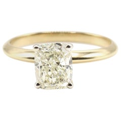 GIA Certified 1.50 Carat N SI1 Cushion Cut Diamond Solitaire Engagement Ring