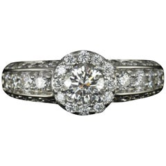 GIA Certified 1.50 Carat Round Brilliant Cut Diamond Ring