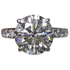 GIA Certified 1.50 Carat Triple Excellent Cut Diamond I SI1 Round Brilliant