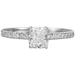 GIA Certified 1.51 Carat Cushion Cut Diamond Engagement Ring