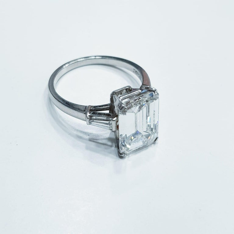 Elegant, high quality, and quite substantial 2.54ct emerald cut diamond has excellent VS2 clarity, beautiful white color, and a bright, lively, sophisticated cut! The diamond is certified by IGI ANTWERP Under IGI rigorous standards, the diamond
