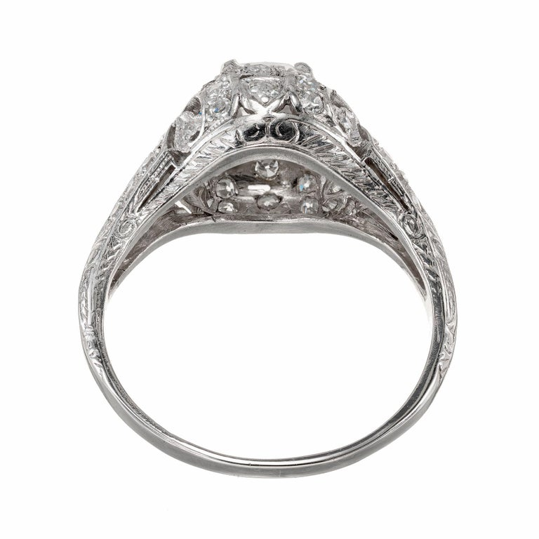 Women's GIA Certified 1.55 Carat Diamond Platinum Engagement Ring For Sale