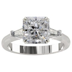 GIA Certified 1.55 Carat Radiant Cut Diamond Ring D VS2