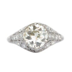 GIA Certified 1.60 Carat Diamond Platinum Engagement Ring