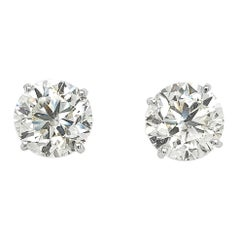GIA Certified 16.16 Carat Total Weight Diamond Studs