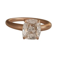 GIA Certified 1.62 Carat Cushion Cut Diamond Ring