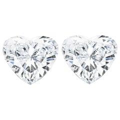 GIA Certified 1.80 Carat Heart Shape Diamond Studs