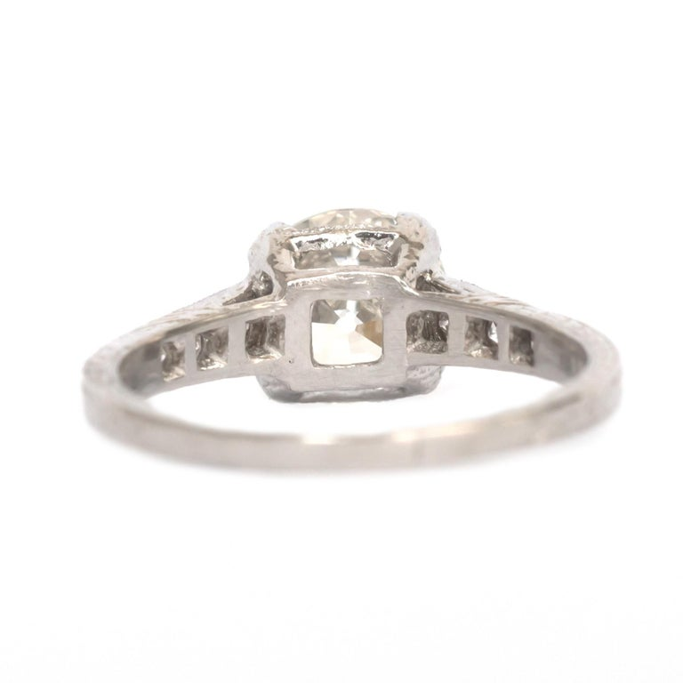 GIA Certified 1.63 Carat Diamond Platinum Engagement Ring In Good Condition For Sale In Hicksville, NY