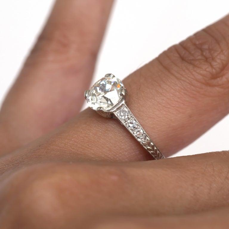 GIA Certified 1.63 Carat Diamond Platinum Engagement Ring For Sale 3