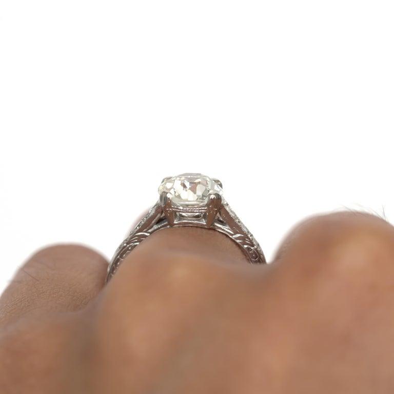 GIA Certified 1.63 Carat Diamond Platinum Engagement Ring For Sale 4