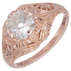 GIA Certified 1.63 Carat Diamond Rose Gold Engagement Ring
