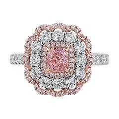 GIA Certified 1.65 Carat Natural Diamond Pink White Diamond Engagement Ring
