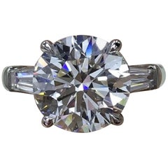 FLAWLESS GIA Certified 1.65 Carat Round Brilliant Cut Diamond Ring