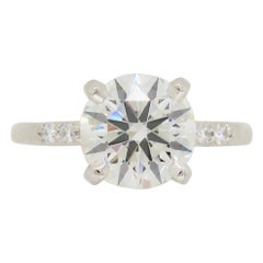 GIA Certified 1.67 Carat Diamond Engagement Ring Made in Platinum