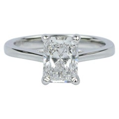 Internally Flawless D Color GIA Certified Long Radiant 1.20 Carat Ring
