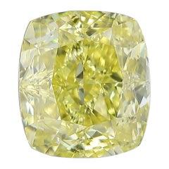 GIA Certified 1.51 Carat Fancy Intense Yellow Diamond IF Clarity
