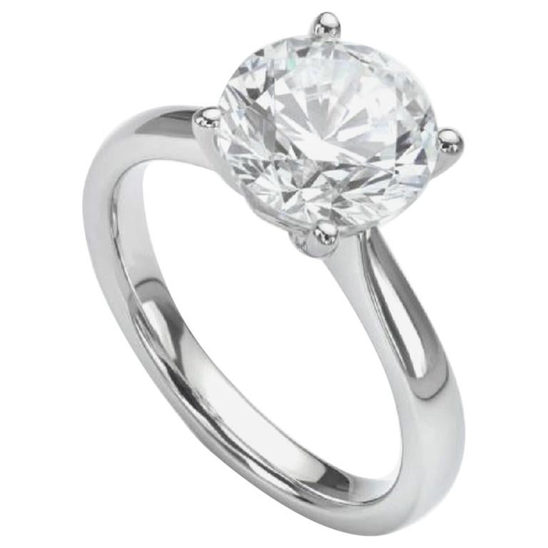 GIA Certified 1.20 Carat Triple Excellent Round Brilliant Cut Diamond Ring VVS E