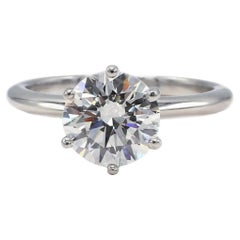 GIA Certified 1.71 Carat G VS2 Round Diamond Solitaire Engagement Ring
