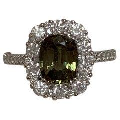 GIA Certified 1.72 Carat Alexandrite Ring