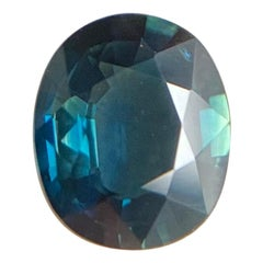 GIA Certified 1.73 Carat Untreated Deep Blue Sapphire Oval Cut Unheated Rare Gem
