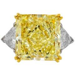 GIA Certified 17.46 Carat Fancy Yellow VVS2 Ring