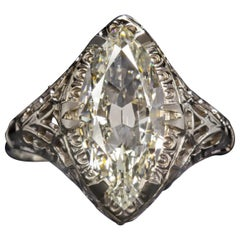 GIA Certified 1.75 Carat Marquise Diamond Ring