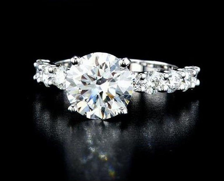 Contemporary GIA Certified 1.77 Carat Diamond Engagement Ring G/ VVS1 For Sale