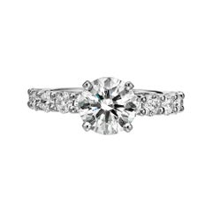 GIA Certified 1.77 Carat Diamond Engagement Ring G/ VVS1