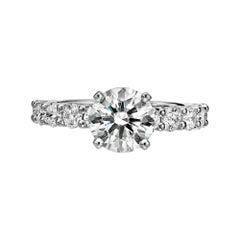 GIA Certified 1.77 Carat Diamond Engagement Ring G/ VVS1