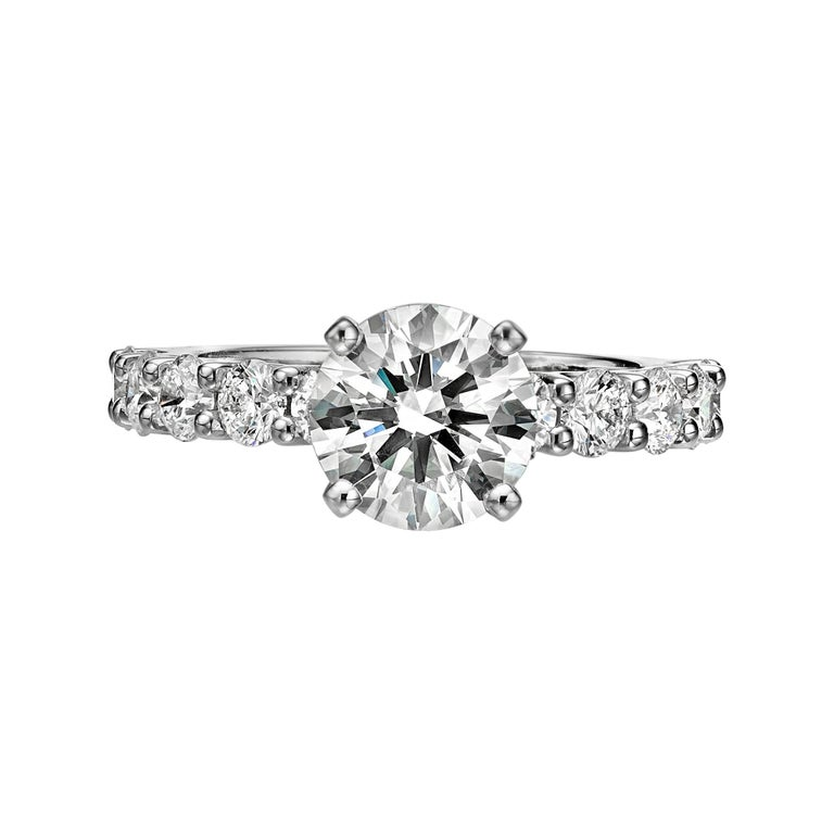 GIA Certified 1.77 Carat Diamond Engagement Ring G/ VVS1 For Sale