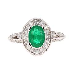 GIA Certified 1.79 Carat Emerald Diamond 18 Karat White Gold Ring