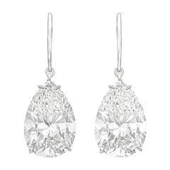 GIA Certified 1.80 Carat Pear Cut Diamond Studs E/F Color VS2 Clarity