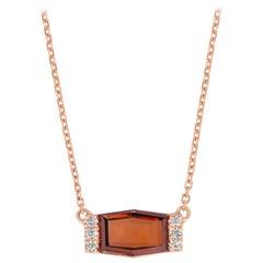 GIA Certified 1.81 Carat Fancy D Orange-Brown Hexagon Diamond Rose Gold Pendant