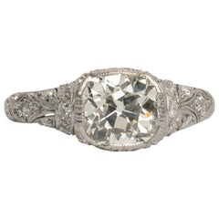 GIA Certified 1.84 Carat Diamond Platinum Engagement Ring