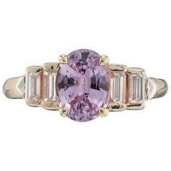 GIA Certified 1.84 Carat Sapphire Diamond Yellow Gold Engagement Ring