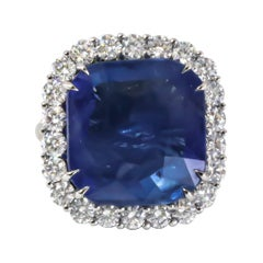 GIA Certified 18.51 Carat Sapphire