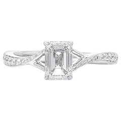GIA Certified 1.87 Carat White Diamond 18 Karat White Gold Wedding Ring