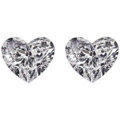 GIA Certified 1.89 Carat Heart Shape Diamond Studs D/G VS1/VS2